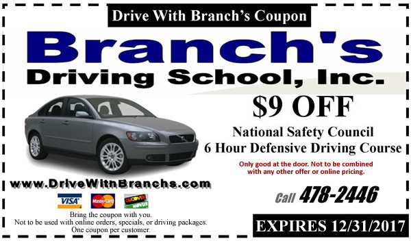 Coupon traffic school